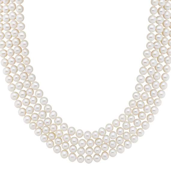 "5mm Cultured Freshwater Pearl Strand (100"")"