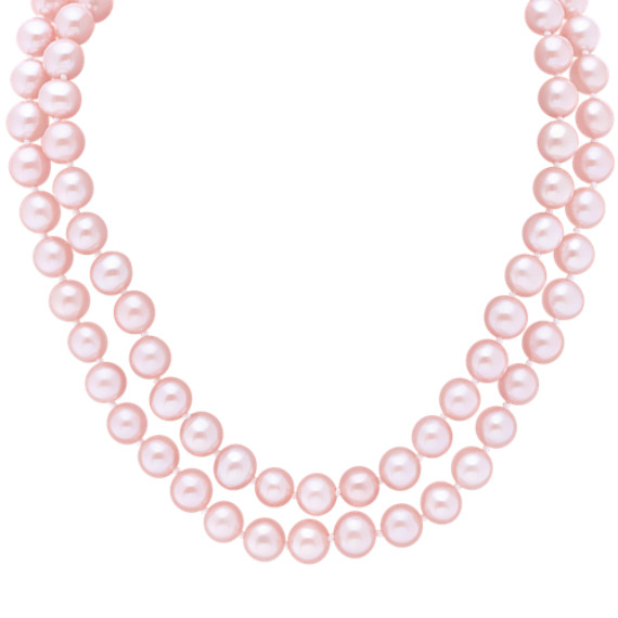 "6mm Pink Cultured Freshwater Pearl Strand (65"")"