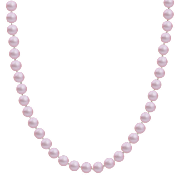 7mm Lavender Cultured Freshwater Pearl Strand (18)