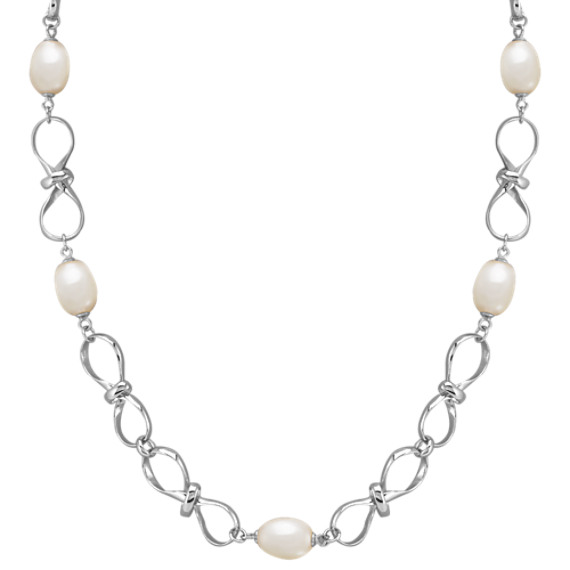 8.5mm Cultured Freshwater Pearl and Sterling Silver Necklace (30)