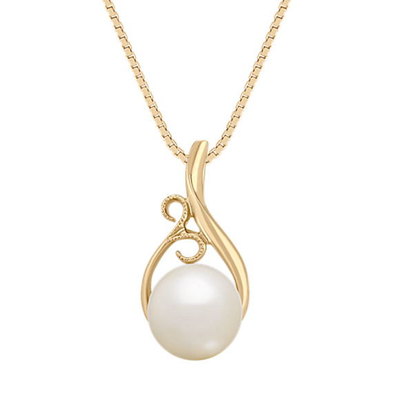 "8.5mm Cultured Freshwater Pearl Pendant (18"")"