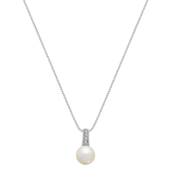 8mm Akoya Pearl and Diamond Pendant (18)