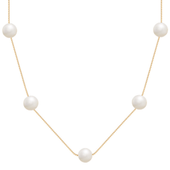 "8mm Cultured Freshwater Pearl Necklace (18"")"