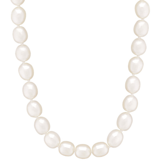 "8mm Freshwater Pearl Strand, Bracelet, and Earring Three-Piece Set (18"")"
