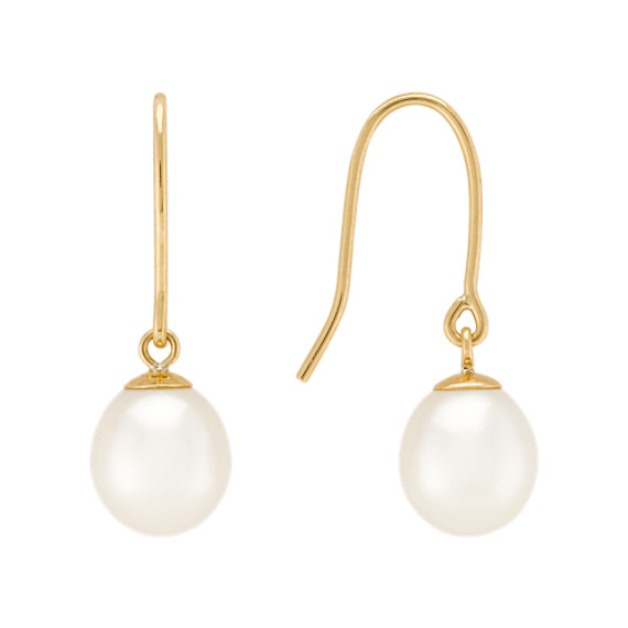 8mm Freshwater Pearl Strand, Bracelet, and Earring Three-Piece Set (18)