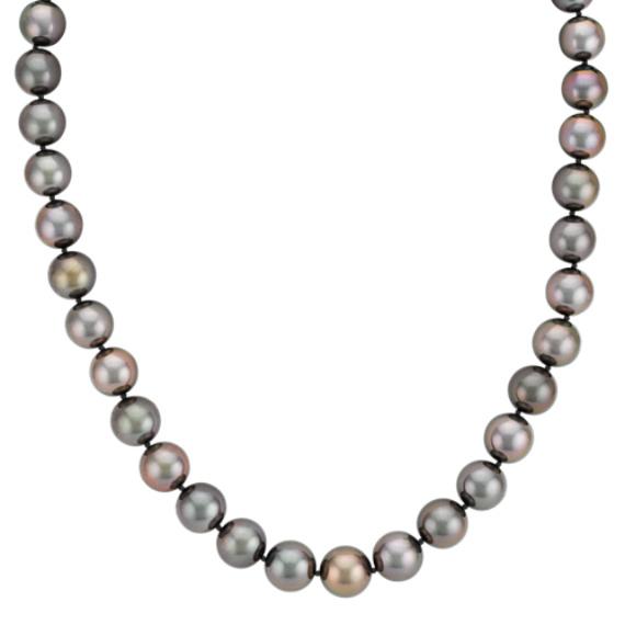 "9-12mm Multi-Colored Cultured Tahitian Pearl Strand (18"")"