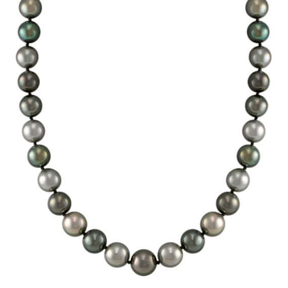 "9mm Multi-Colored Cultured Tahitian Pearl Strand (18"")"