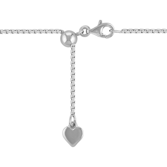 Adjustable Sterling Silver Box Chain (18)