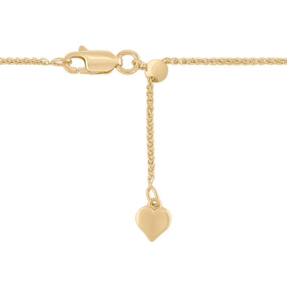 "Adjustable14k Yellow Gold Diamond Cut Wheat Chain (22"")"