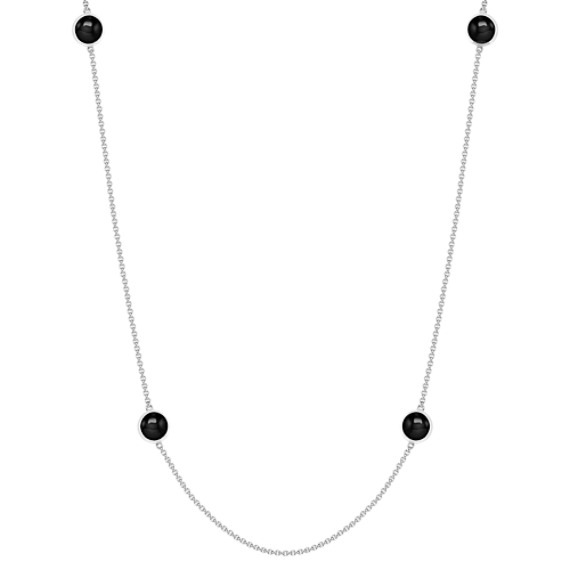Black Agate and Sterling Silver Necklace (38)