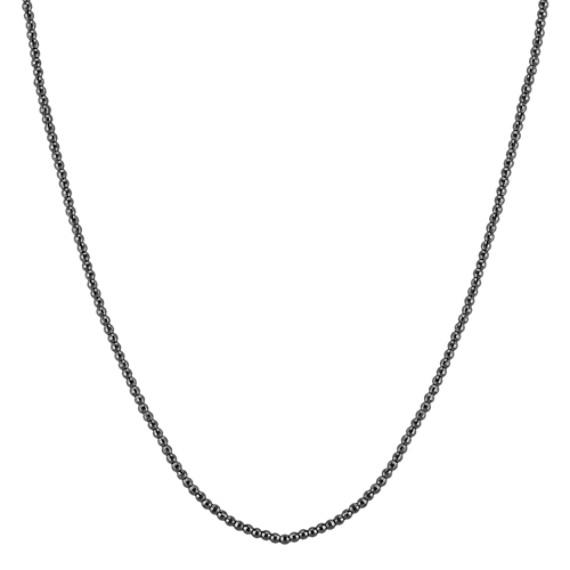 Black Sterling Silver Necklace (18)