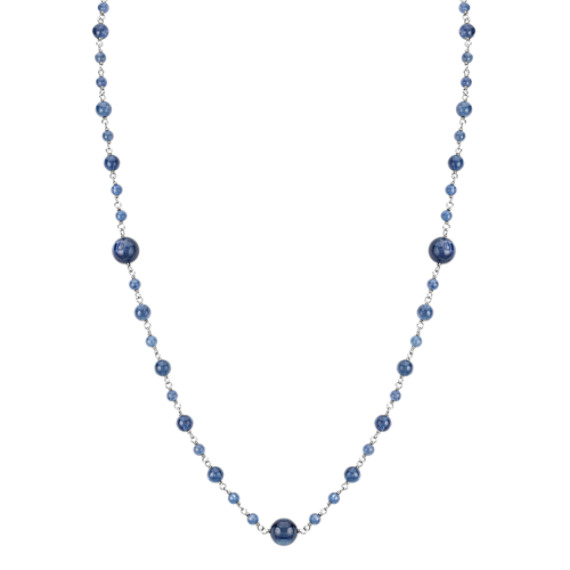 """Blue Kyanite Necklace in Sterling Silver (24"""")"""