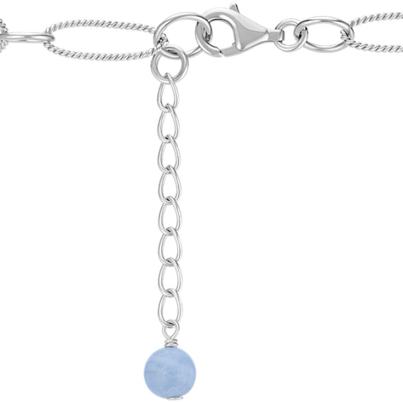 Blue Lace Agate Sterling Silver Necklace (24)