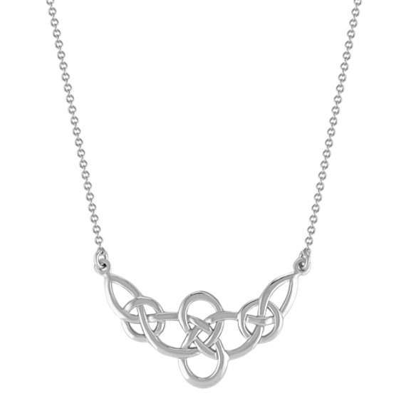 "Celtic Sterling Silver Necklace (18"")"