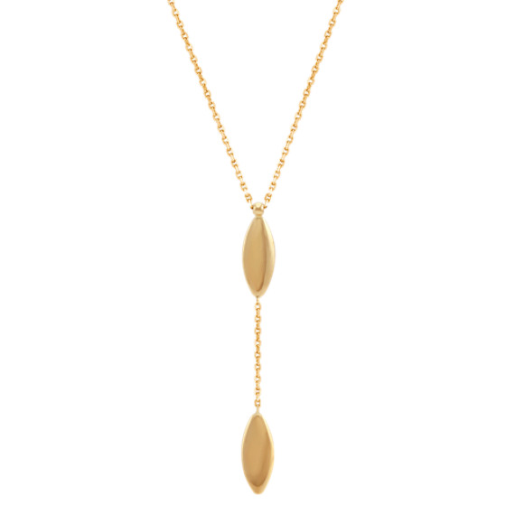 "Chain and Gold Accent Pendant in 14k Yellow Gold (18"")"