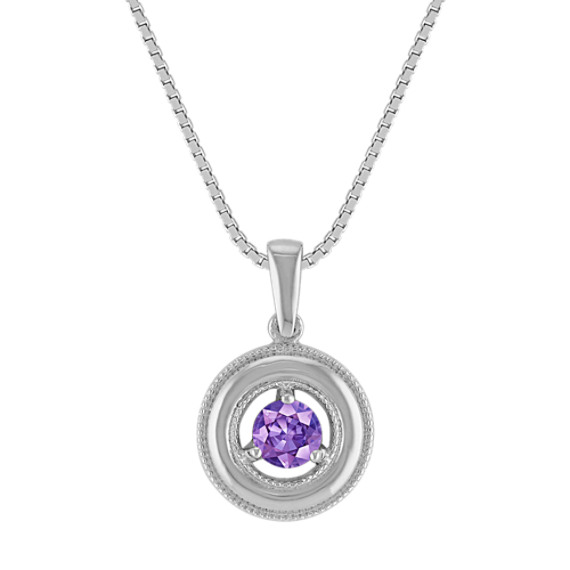 Circle Lavender Sapphire Pendant (18)