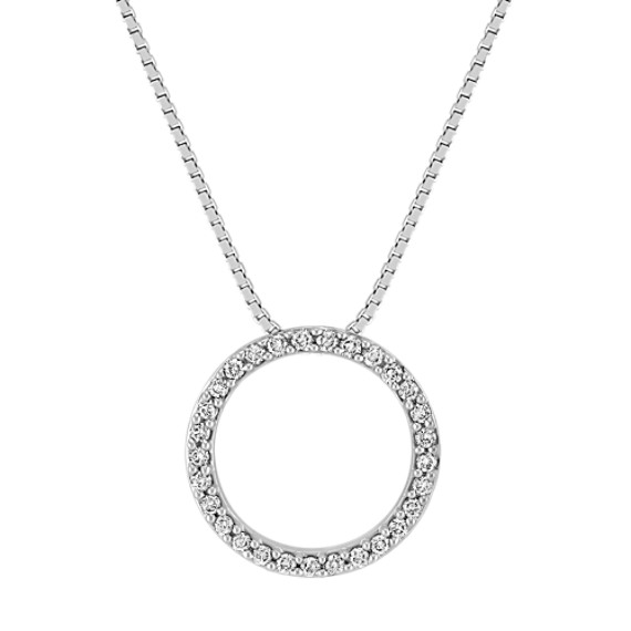 Classic Diamond Circle Pendant (18)