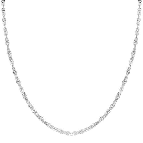 "Contemporary Sterling Silver Necklace (24"")"