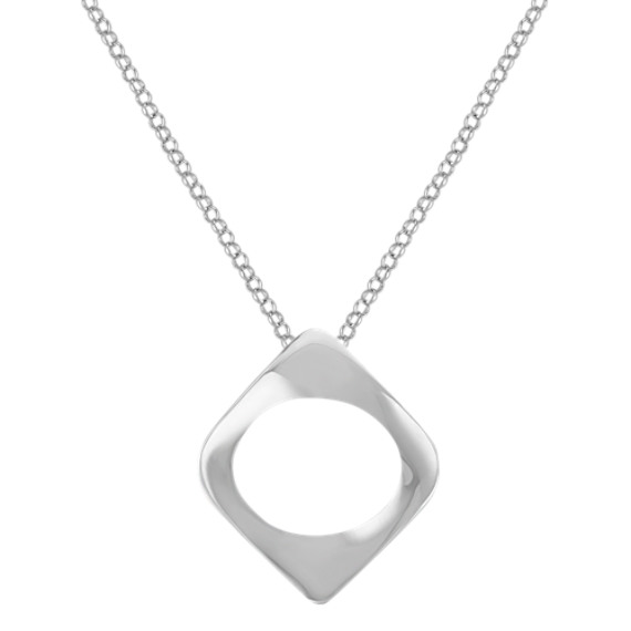 Contemporary Sterling Silver Pendant (18 in.)