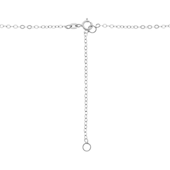 Cross Pendant in 14k White Gold (18 in.)