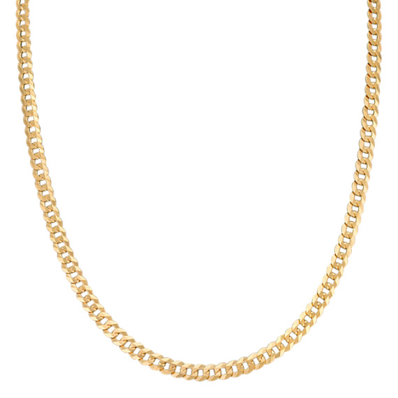 "Curb Necklace in 14k Yellow Gold (24"")"
