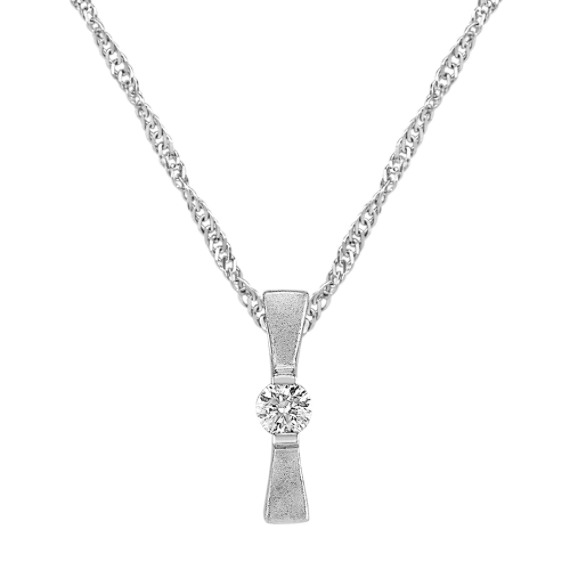Diamond and Sterling Silver Pendant (18)
