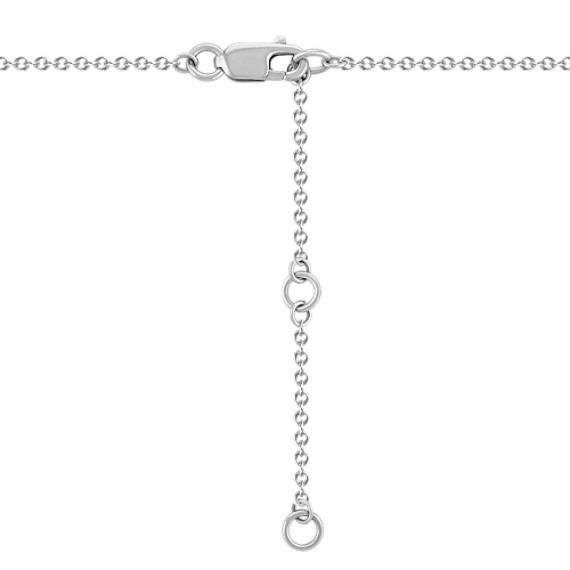 "Diamond Bar Necklace (17"")"