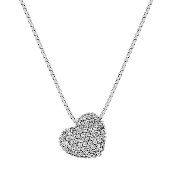 Diamond Cluster Heart Pendant (18)