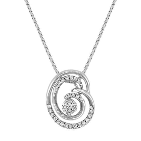 "Diamond Cluster Pendant (18"")"