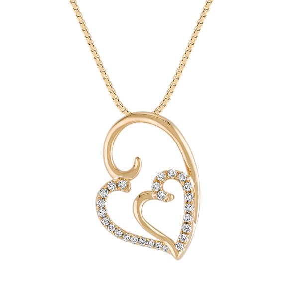 Diamond Double Heart Pendant (18)