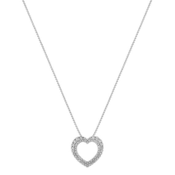 Diamond Heart Pendant with Pavé Setting (18)