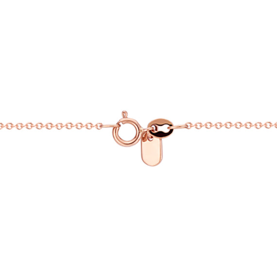 "Diamond Infinity Bar Necklace in Rose Gold (18"")"