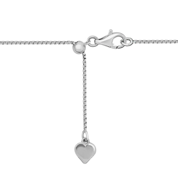 Diamond Sterling Silver Heart Pendant with Bezel Setting (18)