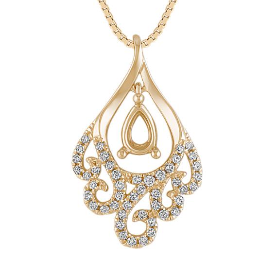 Diamond Swirl Pendant (18)
