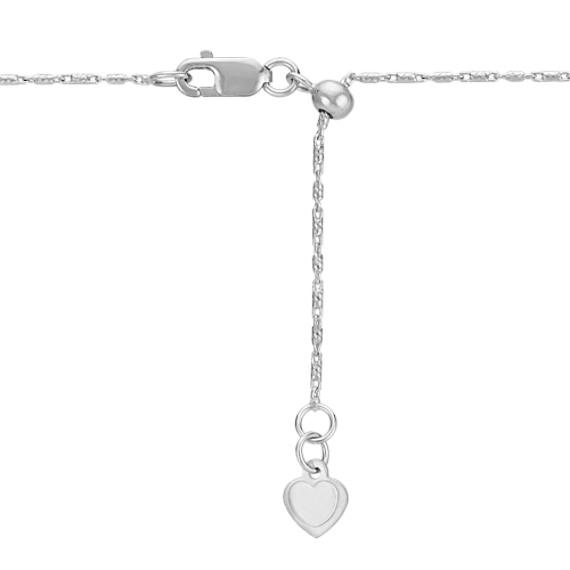 "Diamond Twist Pendant for Marquise Gemstone (22"")"