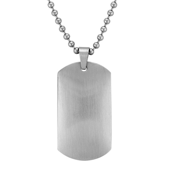 Dog Tag Necklace in Stainless Steel (24)