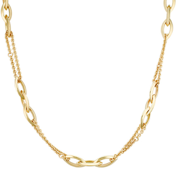 """Double Chain Link Necklace (18"""")"""