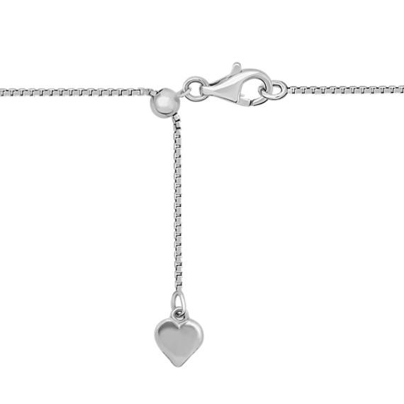 """Double Heart Pendant with Round Diamonds (18"""")"""