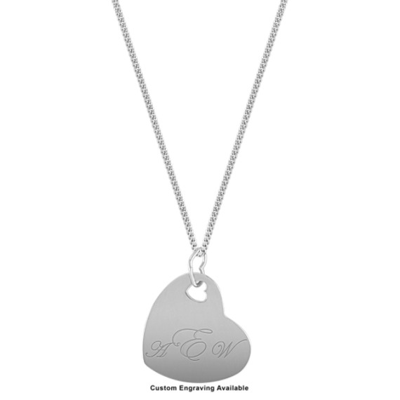 Engravable Heart Pendant in Sterling Silver (20)