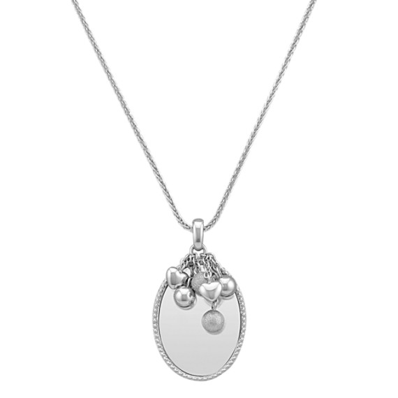 "Engravable Sterling Silver Pendant (24"")"