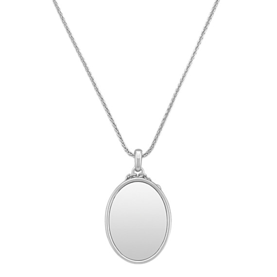 Engravable Sterling Silver Pendant (24")
