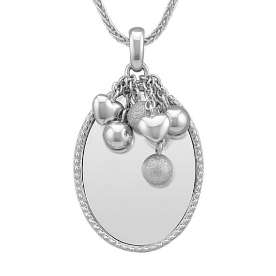 Engravable Sterling Silver Pendant (24)