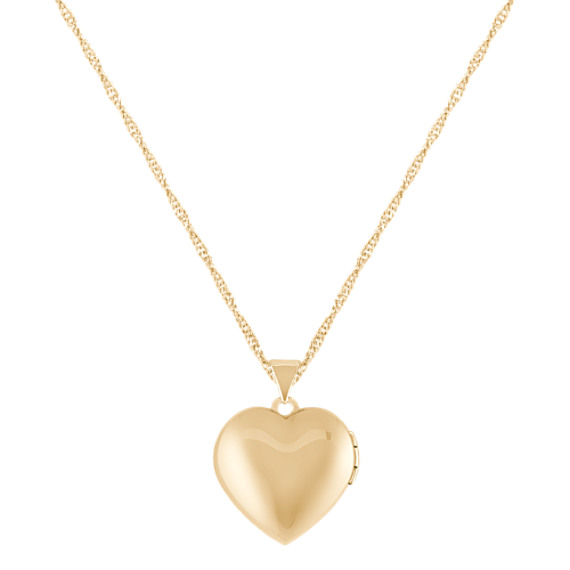 Engraved 14k Yellow Gold Heart Shaped Locket (18)
