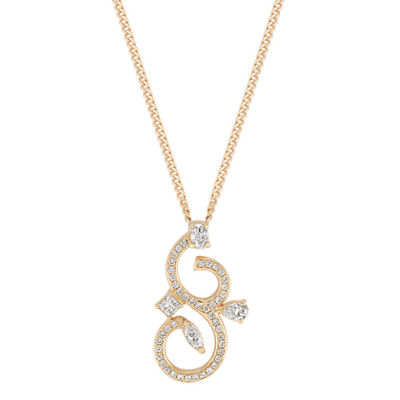 Fancy Shape and Round Diamond Pendant (18)