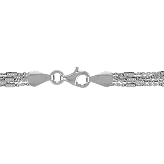 Five Chain Sterling Silver Layered Necklace (18)