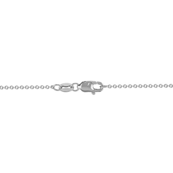 Freeform Lavender Sapphire and Round Diamond Pendant (18)