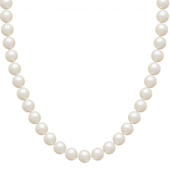 "Freshwater Pearl Strand and Earring Two-Piece Set in Sterling Silver (18"")"