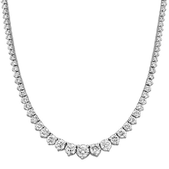 "Graduated Round Diamond Necklace (17"")"