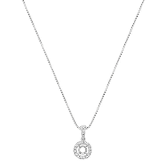 Halo Diamond Pendant (18)