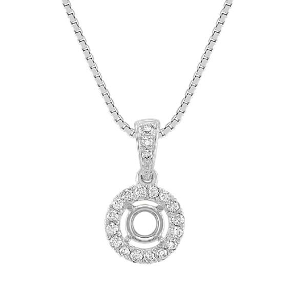 Halo Diamond Pendant (18)